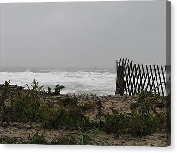 Don't Take A Fence Canvas Print by Brian Mazzoli