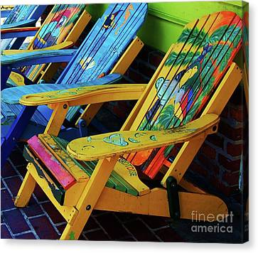 Dont Worry Be Happy Canvas Print by Debbi Granruth