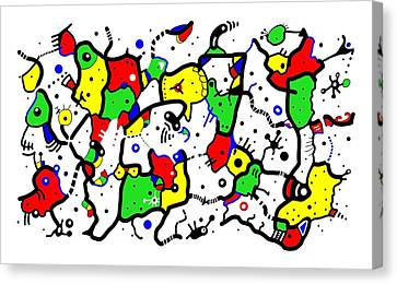 Doodle Abstract Canvas Print by Marv Vandehey