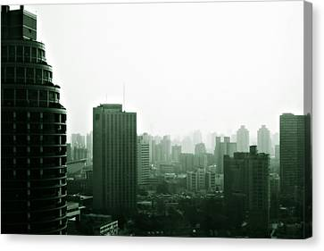 Doomsday Shanghai Canvas Print by Christine Till