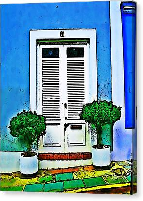 Door 61 Canvas Print by Perry Webster
