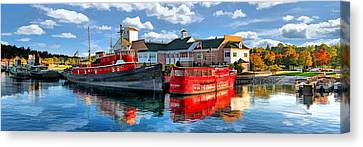Door County Maritime Museum Panorama Canvas Print by Christopher Arndt