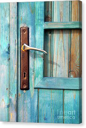 Door Handle Canvas Print by Carlos Caetano