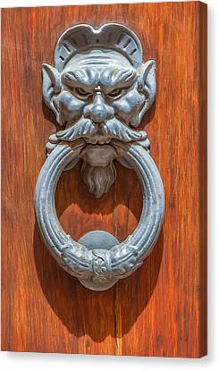 Door Knocker Of Tuscany Canvas Print by David Letts