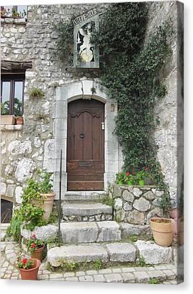 Doorway In St Paul De Vence France Canvas Print by Marilyn Dunlap