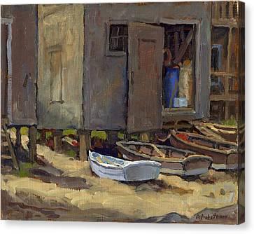 Dories On Fish Beach Canvas Print by Thor Wickstrom