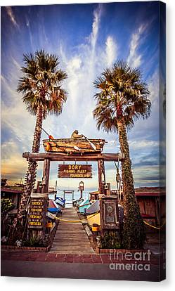 Dory Fishing Fleet Market Picture Newport Beach Canvas Print by Paul Velgos