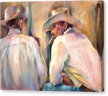 Dos Amigos Canvas Print by Joan  Jones
