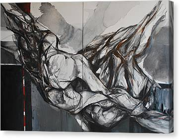 Dos Figuras Canvas Print by Mirjana Lucic
