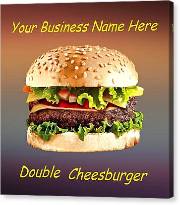 Double Cheeseburger Customized  Canvas Print by Movie Poster Prints