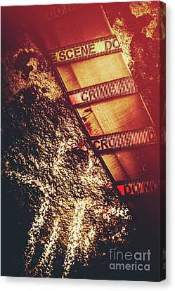 Double Crossing Crime Scene Investigation Canvas Print by Jorgo Photography - Wall Art Gallery