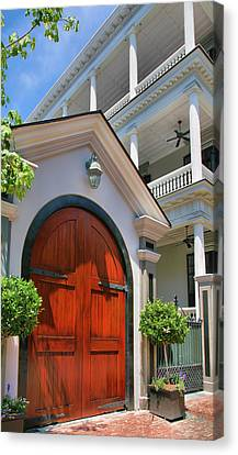 Double Door And Historic Home Canvas Print by Steven Ainsworth