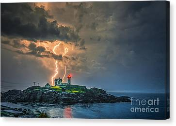Double Strike Canvas Print by Scott Thorp