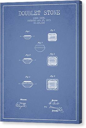Doublet Stone Patent From 1873 - Light Blue Canvas Print by Aged Pixel