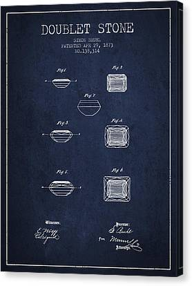 Doublet Stone Patent From 1873 - Navy Blue Canvas Print by Aged Pixel