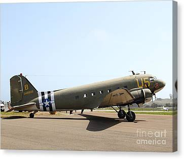 Douglas C47 Skytrain Military Aircraft 7d15788 Canvas Print by Wingsdomain Art and Photography