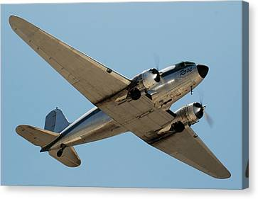 Douglas Dc-3 Rose At Hawthorne Canvas Print by Brian Lockett