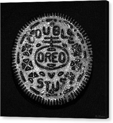Doulble Stuff Oreo In Black And White Canvas Print by Rob Hans