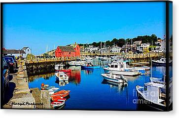 Down By The Boats  Canvas Print by MaryLee Parker