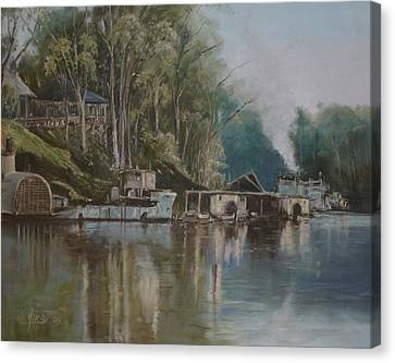 Down By The River Canvas Print by Diko