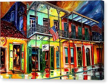 Down On Bourbon Street Canvas Print by Diane Millsap
