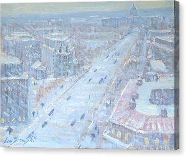 Down Pennsylvania Avenue Canvas Print by Len Stomski