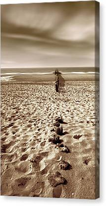 Down The Shore Canvas Print by Wim Lanclus