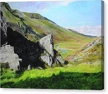 Down The Valley Canvas Print by Harry Robertson