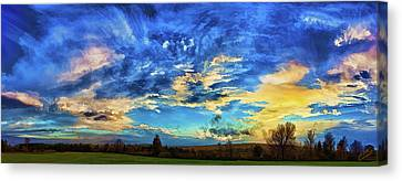 Downeast Sunset Cloudscape Canvas Print by ABeautifulSky Photography