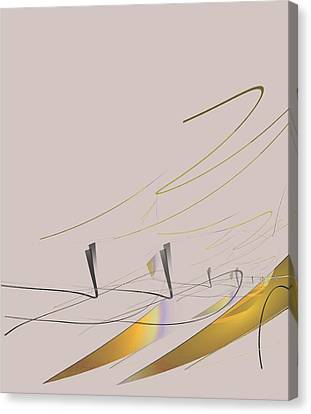 Downhill Racer Canvas Print by John Krakora