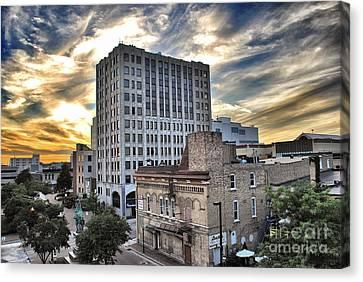 Downtown Appleton Skyline Canvas Print by Mark David Zahn