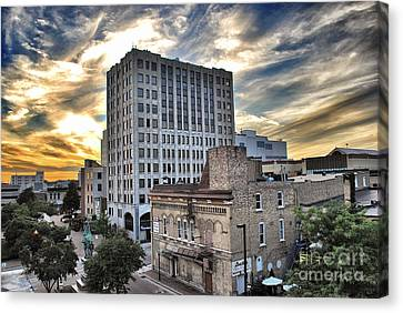 Downtown Appleton Skyline Canvas Print by Mark David Zahn