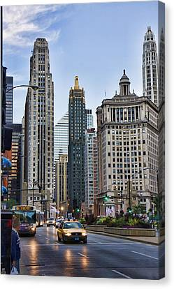 Downtown Chicago Traffic Canvas Print by Paul Bartoszek