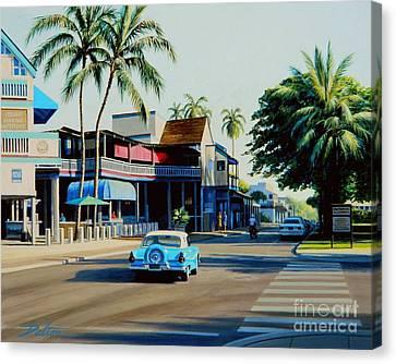 Downtown Lahaina Maui Canvas Print by Frank Dalton