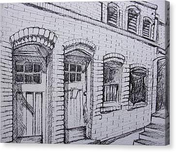 Downtown Phoenix Building Canvas Print by Aleksandra Buha