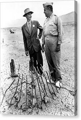 Dr. J. Robert Oppenheimer, With Maj Canvas Print by Everett