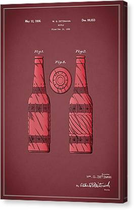 Dr Pepper Patent 1936 Canvas Print by Mark Rogan