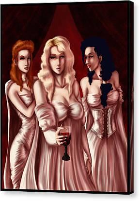 Dracula's Brides Canvas Print by Jessica Gaude
