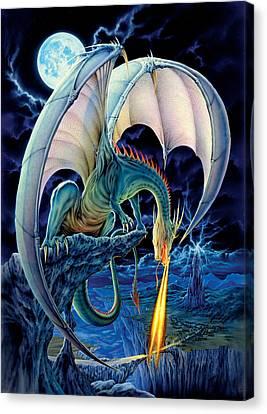 Dragon Causeway Canvas Print by The Dragon Chronicles - Robin Ko