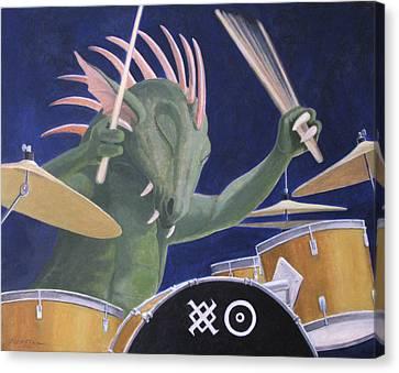 Dragon Heat Canvas Print by Leonard Filgate
