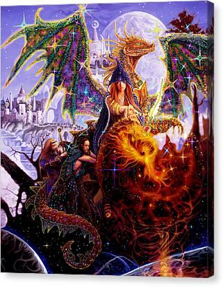 Dragon Master's Apprentice Canvas Print by Steve Roberts