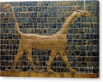 Dragon Of Marduk - On The Ishtar Gate Canvas Print by Anonymous