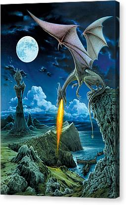 Dragon Spit Canvas Print by The Dragon Chronicles - Robin Ko