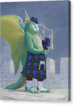 Dragon Watch Canvas Print by Leonard Filgate