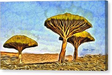 Dragonblood Trees - Da Canvas Print by Leonardo Digenio