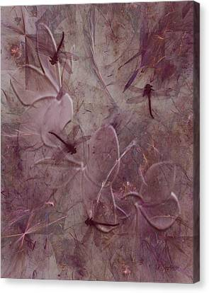 Dragonflies Canvas Print by Jean Gugliuzza