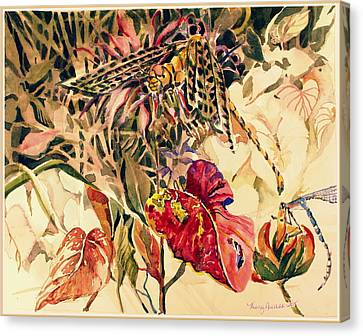 Dragonflies Canvas Print by Mindy Newman