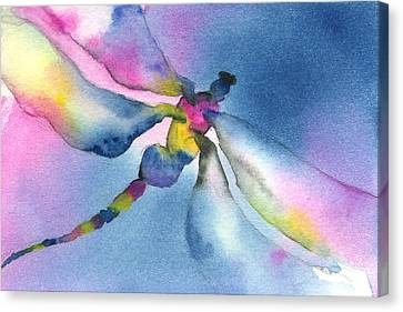 Dragonfly Blues Canvas Print by Gladys Folkers
