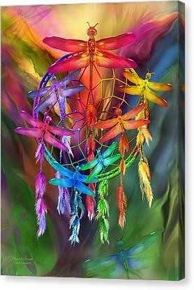 Dragonfly Dreams Canvas Print by Carol Cavalaris