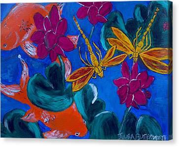 Dragonflys Canvas Print by Julie Butterworth